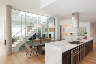 现代简约风格复式二楼阳台实用3平米厨房效果图