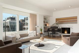 现代简约风格卧室复式公寓实用客厅多功能沙发床图片