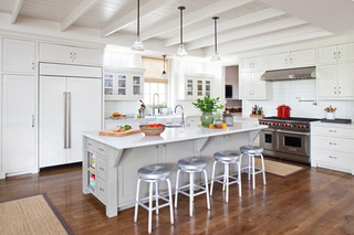 现代简约风格厨房三层半别墅舒适小户型吧台效果图