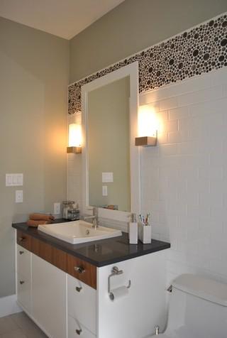现代简约风格公寓时尚家居装饰4个平米的小卫生间装修效果图
