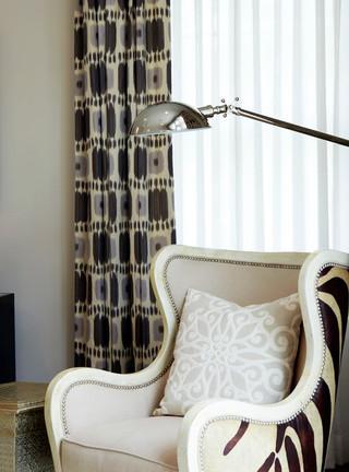 现代简约风格卧室2013别墅简洁卧室单人沙发床图片
