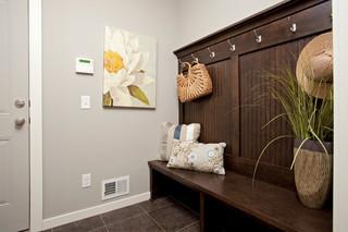 美式乡村风格卧室三层平顶别墅舒适衣帽间设计图装修效果图