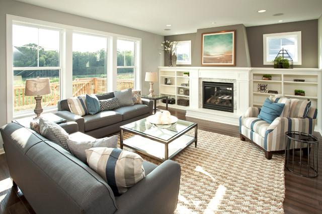 美式乡村风格卧室三层小别墅舒适2012客厅装修效果图高清图片