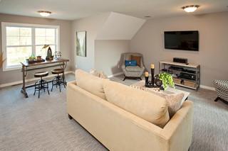 美式乡村风格客厅300平别墅舒适品牌贵妃沙发效果图