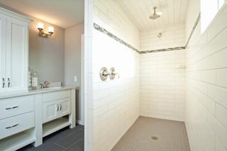 美式乡村风格卧室三层独栋别墅舒适品牌整体淋浴房图片