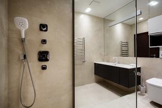 现代简约风格卧室一层别墅及简洁卧室整体淋浴房安装图