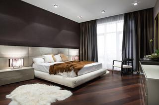 现代简约风格卫生间200平米别墅简洁卧室卧室榻榻米床效果图