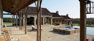 美式乡村风格卧室一层半别墅简单实用花园阳台效果图