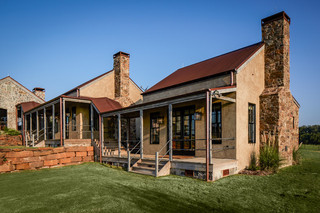 美式乡村风格三层别墅阳台实用室内入户花园设计图纸