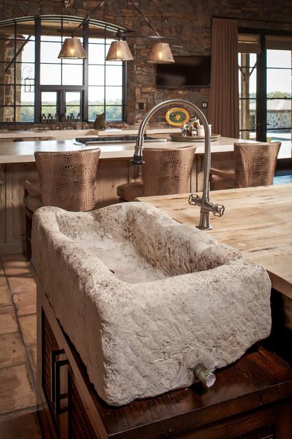 美式乡村风格三层独栋别墅实用客厅一体式台盆效果图