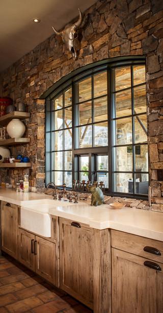 美式乡村风格卧室三层小别墅简单实用室内窗户效果图