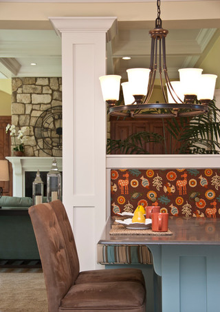 美式乡村风格三层小别墅舒适大理石背景墙装修效果图
