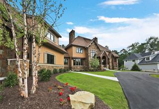 美式乡村风格客厅3层别墅舒适空中花园装修效果图
