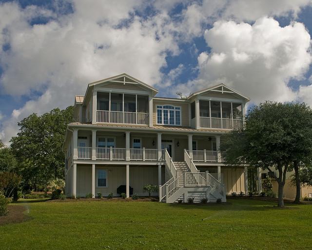 现代简约风格餐厅三层半别墅实用客厅花园洋房设计图