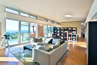 现代简约风格客厅一层半别墅大气懒人沙发效果图