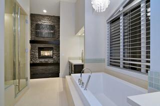 现代简约风格厨房一层别墅现代奢华按摩浴缸效果图
