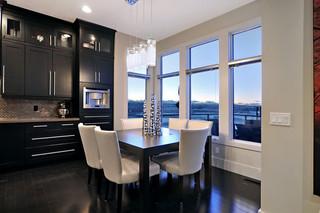 现代简约风格客厅一层别墅及现代奢华红木餐桌效果图