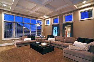 现代简约风格厨房3层别墅现代奢华懒人沙发效果图