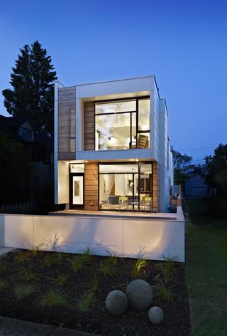现代简约风格客厅三层小别墅奢华客厅窗户效果图