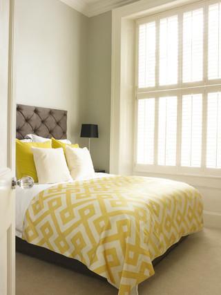 房间欧式风格精装公寓浪漫卧室单人沙发床效果图