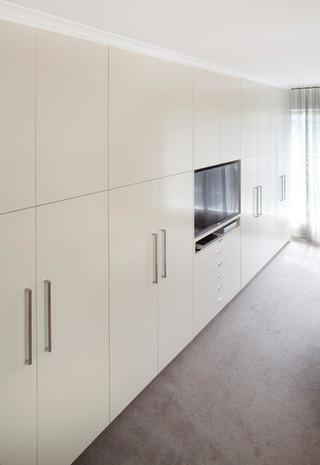 现代简约风格客厅2层别墅现代简洁橱柜效果图