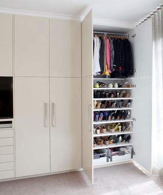 现代简约风格三层平顶别墅现代简洁品牌衣柜设计图纸