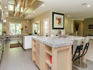 现代简约风格三层双拼别墅实用客厅小户型吧台效果图