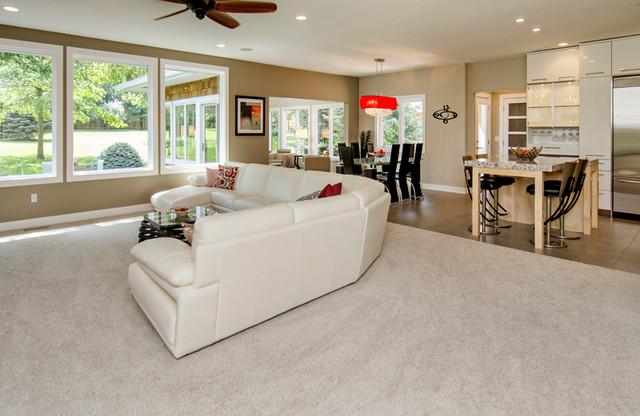 现代简约风格卧室三层平顶别墅实用卧室品牌布艺沙发图片