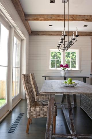 现代简约风格三层别墅现代简洁中式餐桌图片