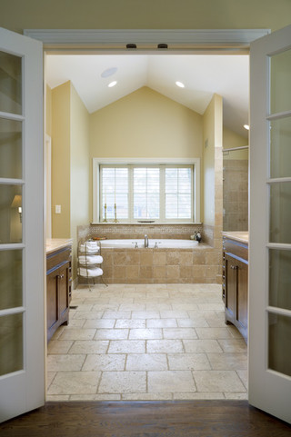 现代简约风格厨房一层别墅现代简洁浴缸龙头效果图