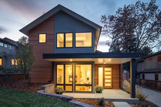 现代简约风格厨房一层别墅及简约时尚花园阳台设计图纸