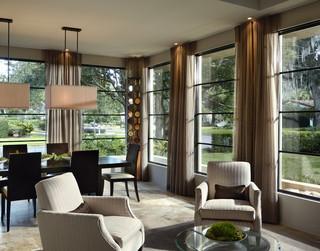 现代简约风格客厅三层半别墅稳重室内窗户图片