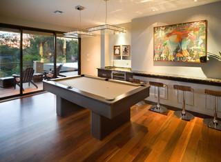 现代简约风格卧室三层连体别墅稳重家庭吧台隔断装修图片