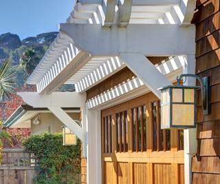 地中海风格室内三层半别墅阳台实用庭院灯效果图