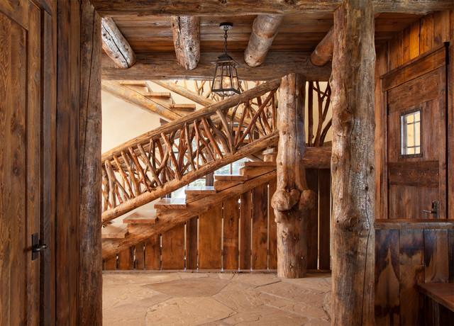 混搭风格三层小别墅艺术家具不锈钢楼梯扶手装修图片