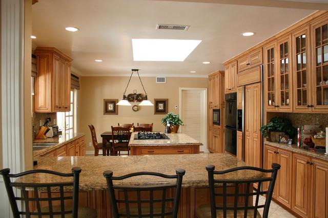 美式风格卧室二居室舒适厨房吧台装修效果图图片