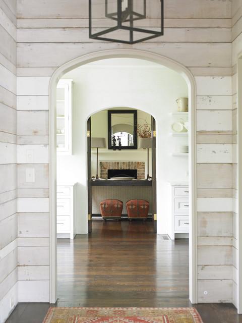 现代简约风格2层别墅舒适门厅过道吊顶设计