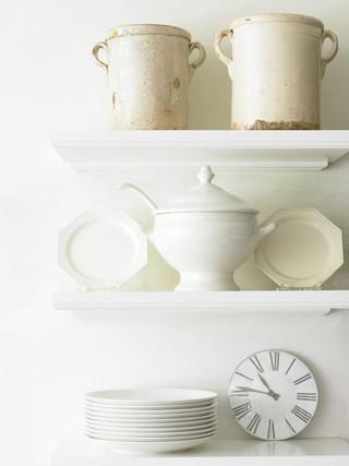 现代简约风格三层连体别墅舒适厨房收纳架图片