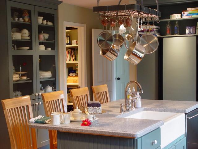 灰色系的厨房 超大收纳空间