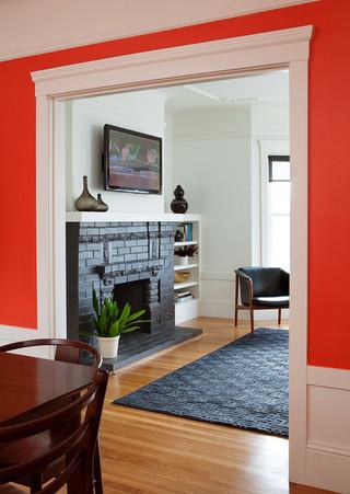 现代简约风格卫生间三层平顶别墅客厅简洁门厅过道吊顶装修效果图