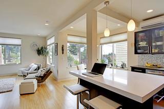 欧式风格卧室三层独栋别墅舒适家庭小吧台效果图