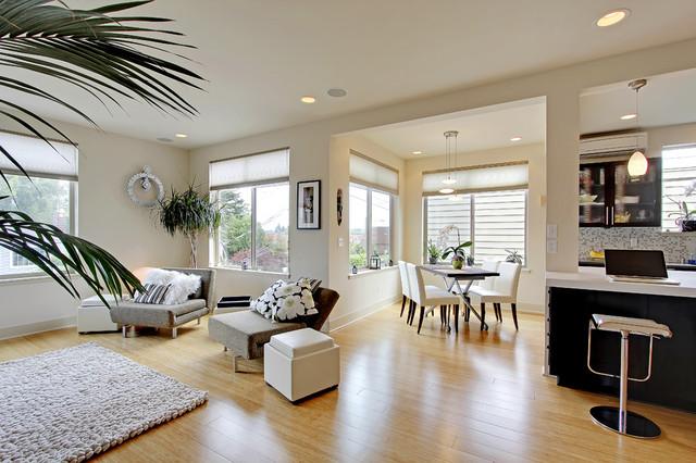 欧式风格客厅三层连体别墅舒适地板砖效果图