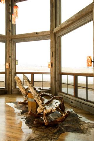混搭风格客厅一层别墅及大气一楼阳台改造