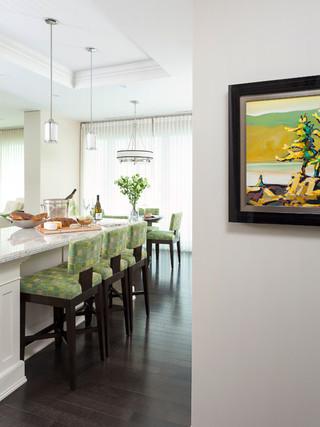 现代欧式风格复式公寓舒适装修效果图