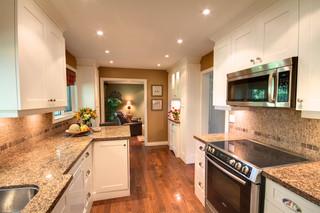 现代简约风格简洁卧室开放式厨房餐厅效果图