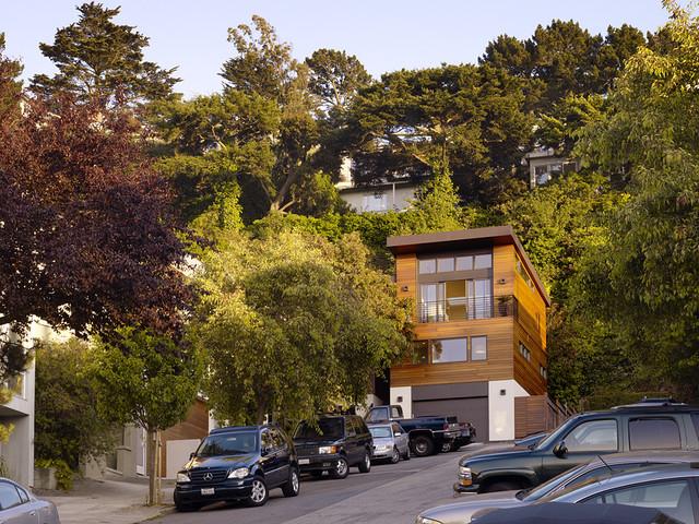 现代简约风格卧室200平米别墅效果图纸