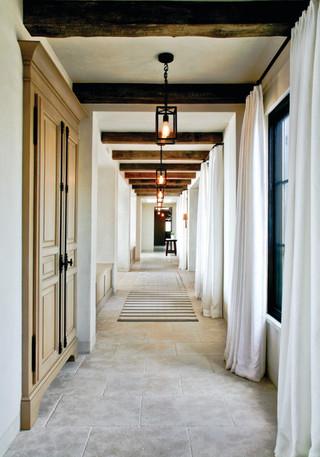 现代欧式风格三层双拼别墅浪漫婚房布置装修木门效果图