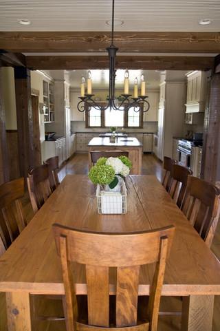 现代简约风格三层小别墅唯美中式餐桌图片