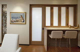 现代简约风格厨房小型公寓艺术家具飘窗书桌效果图