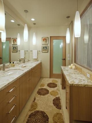 现代简约风格餐厅精装公寓艺术洗手台效果图